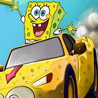 Игра гонки на машинах с губка бобам говорящий губка боб игры