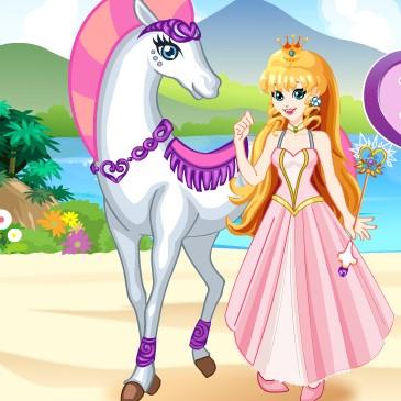 Одевалка: девушка и лошадь